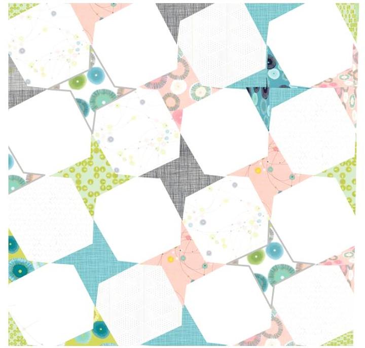 Quilt_ and_Shine variation Honeybee Cloths