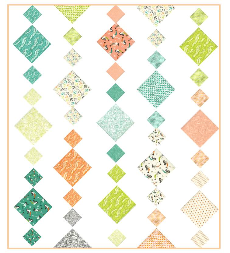 Fish Tales charm layout Chandelier Quilt 2