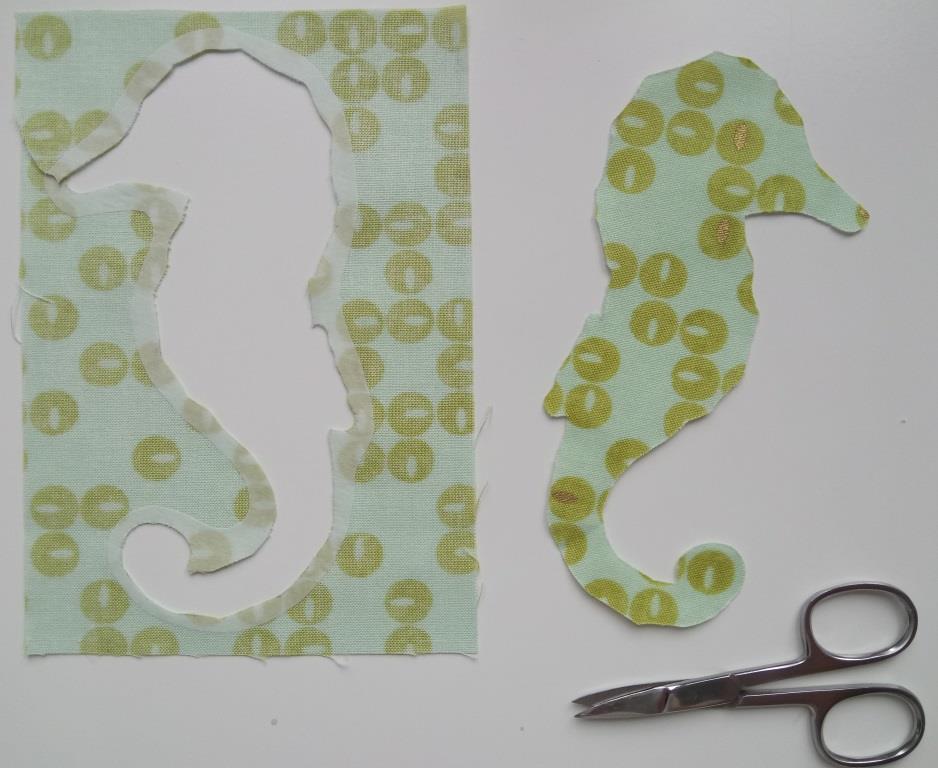 2. Seahorse fusible - Dawn Honeybee Cloths